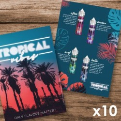 Pack 10 Flyers Tropical Vibes