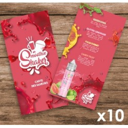 Pack 10 Flyers Smoothie Shaker