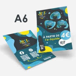 Flyer A6 recto/verso Yes Store à personnaliser